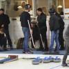 """Rolig """"gubbkväll"""" i curlinghallen"""