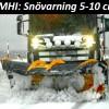 SMHI varnar för kraftigt snöfall