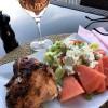 Kyckling och fräsch sallad