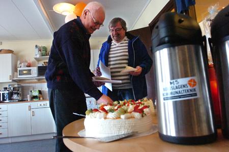 Gunnar Fransson och Leif Pettersson från Kopparberg besökte BKT:s öppna hus.