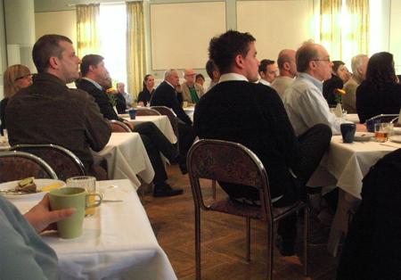 Många lyssnade på de framtida utmaningarna för Lindesberg.
