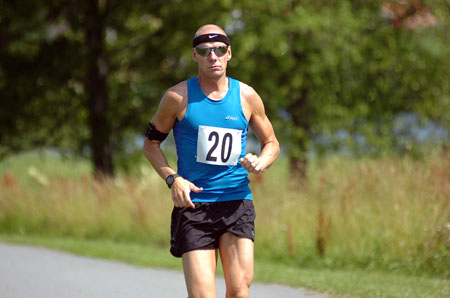 Segraren Johan Eriksson, Kopparbergs IF, han springa drygt 7,4 mil.