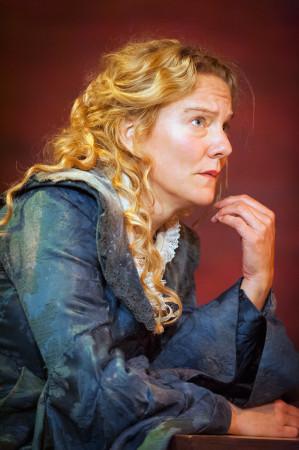 Agneta Horn, stridbar 1600-talskvinna, huvudperson i spelet, gestaltas av Kajsa Linderholm.