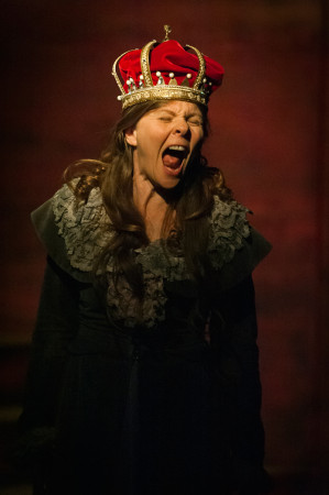 Full fart var det på drottning Kristina, som spelas av Gunilla Orvelius.