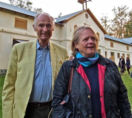Syskonen Paul Horn och Agneta Horn hade kommit för att se föreställningen om deras ättling.  – Vi är ett 20-tal av ätten Horn kvar i Sverige i dag, berättar de.