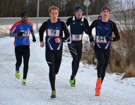 Segraren Linus Rosdal (19) var i täten under hela loppet. Foto: Kjell Stockhaus