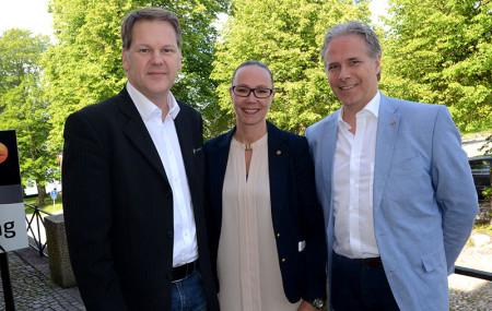 Stolta mentorer från vänster Janis Lancereau, Ylva Edbohm och Ola Drehmer.