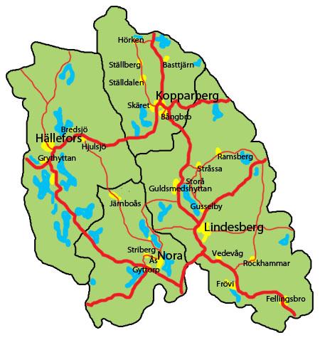 karta lindesbergs kommun Lindesberg och Hällefors växer | 24i karta lindesbergs kommun