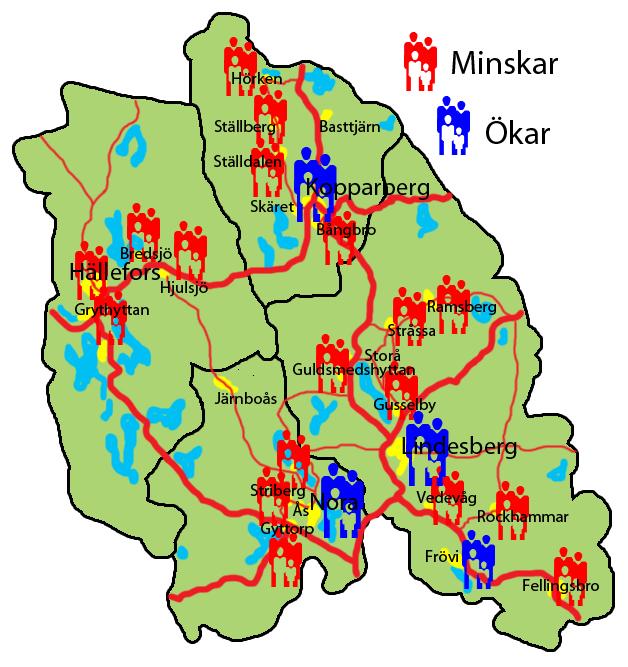 bergslagen karta Fler och fler i centralorterna | 24i bergslagen karta